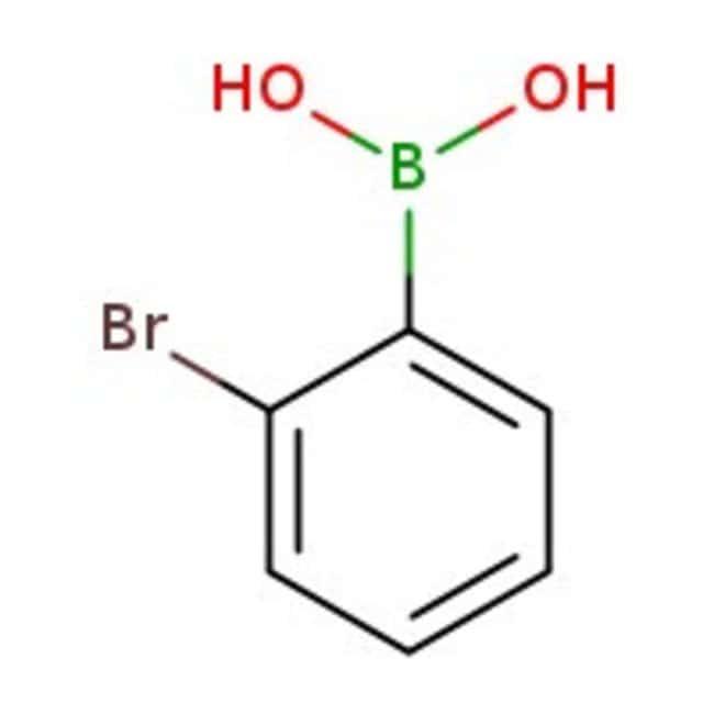 2-Bromophenylboronic acid, 97%, ACROS Organics™ 100g; Glass bottle 2-Bromophenylboronic acid, 97%, ACROS Organics™