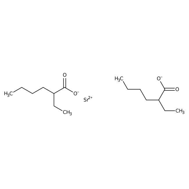 Alfa Aesar™Strontium 2-ethylhexanoate, 40% in 2-ethylhexanoic acid (8-12% Sr) 5g Alfa Aesar™Strontium 2-ethylhexanoate, 40% in 2-ethylhexanoic acid (8-12% Sr)