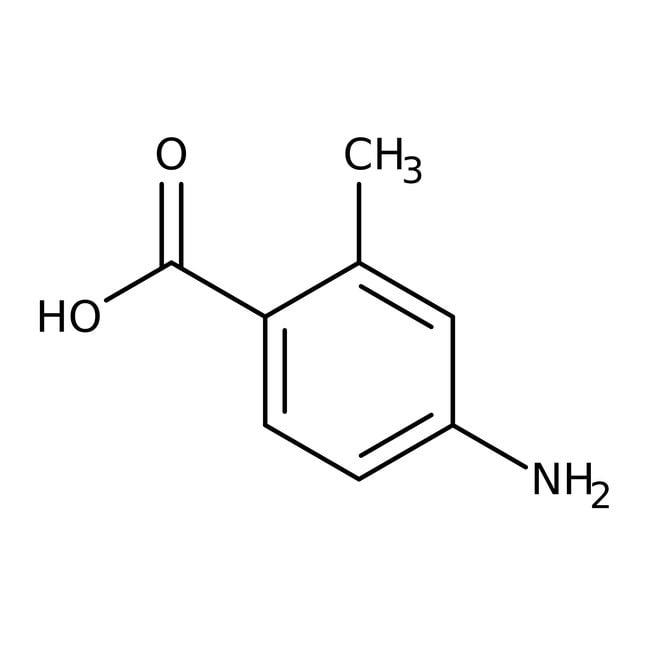 Alfa Aesar™4-Amino-2-methylbenzoic acid, 98% 5g Alfa Aesar™4-Amino-2-methylbenzoic acid, 98%