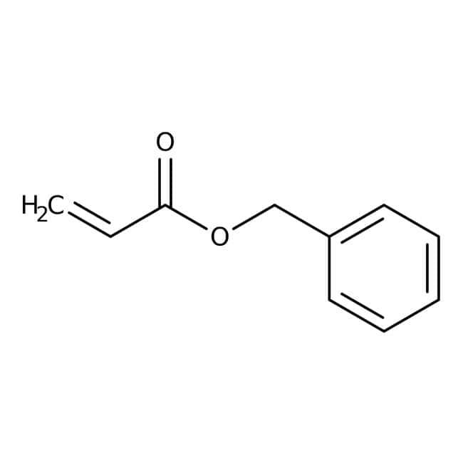 Alfa Aesar™Benzyl acrylate, 97%, stab. with ≈150ppm 4-methoxyphenol 10g Alfa Aesar™Benzyl acrylate, 97%, stab. with ≈150ppm 4-methoxyphenol