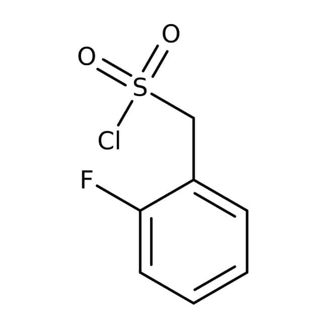 (2-Fluorophenyl)methanesulfonyl chloride, ≥95%, Maybridge Amber Glass Bottle; 1g (2-Fluorophenyl)methanesulfonyl chloride, ≥95%, Maybridge