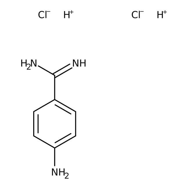 4-Aminobenzamidin-Dihydrochlorid, 97%, ACROS Organics™ 5 g-Glasflasche 4-Aminobenzamidin-Dihydrochlorid, 97%, ACROS Organics™