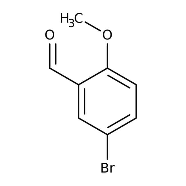 Alfa Aesar™5-Bromo-2-metoxibenzaldehído, +98% 500g Alfa Aesar™5-Bromo-2-metoxibenzaldehído, +98%