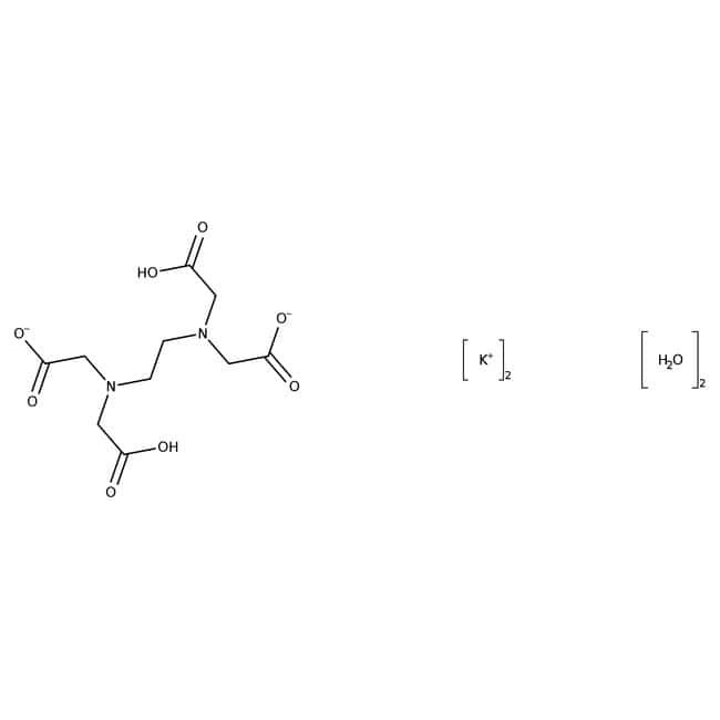 Ethylenediaminetetraacetic acid, dipotassium salt dihydrate, 99%, extra pure, ACROS Organics
