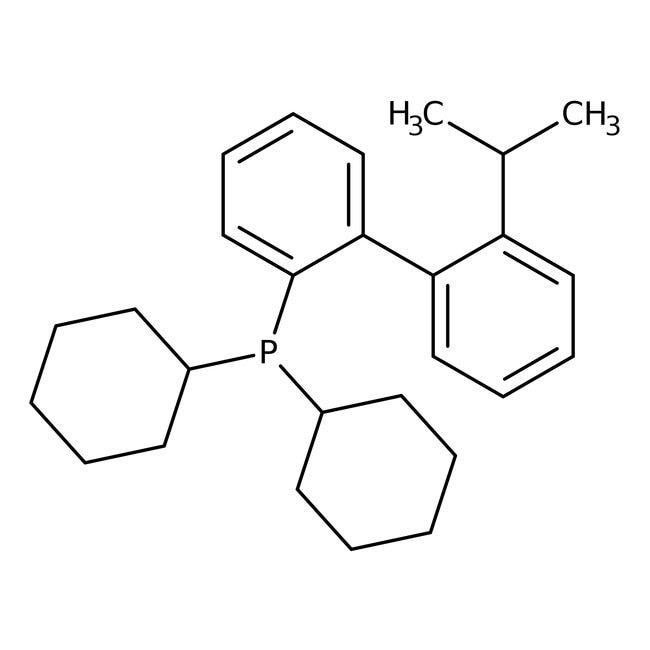 2-(Dicyclohexylphosphino)-2'-isopropylbiphenyl, 98%, ACROS Organics™ 1g; Glass bottle 2-(Dicyclohexylphosphino)-2'-isopropylbiphenyl, 98%, ACROS Organics™