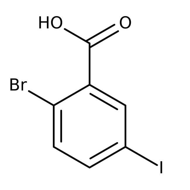 Alfa Aesar™2-Bromo-5-iodobenzoic acid, 97% 1g Alfa Aesar™2-Bromo-5-iodobenzoic acid, 97%