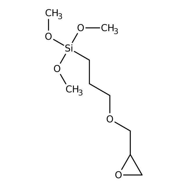 3-Glycidoxypropyltrimethoxysilane, 97%, ACROS Organics™ 2.5Kg; Glass bottle 3-Glycidoxypropyltrimethoxysilane, 97%, ACROS Organics™