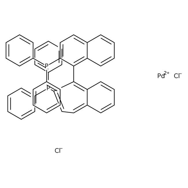Dichlor[2,2'-bis(diphenylphosphino)-1,1 '-binaphthyl]palladium(II), Alfa Aesar™ 5g Dichlor[2,2'-bis(diphenylphosphino)-1,1 '-binaphthyl]palladium(II), Alfa Aesar™
