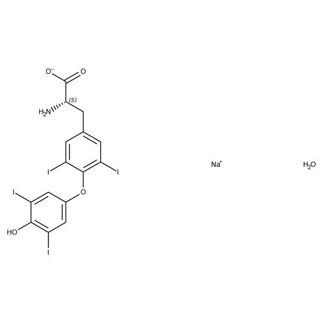 L Thyroxine Sodium Salt Hydrate 97 Acros Organics Glass