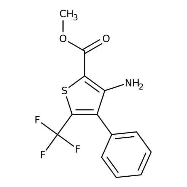 Methyl 3-amino-4-phenyl-5-(trifluoromethyl)thiophene-2-carboxylate, ≥95%, Maybridge 5g Methyl 3-amino-4-phenyl-5-(trifluoromethyl)thiophene-2-carboxylate, ≥95%, Maybridge