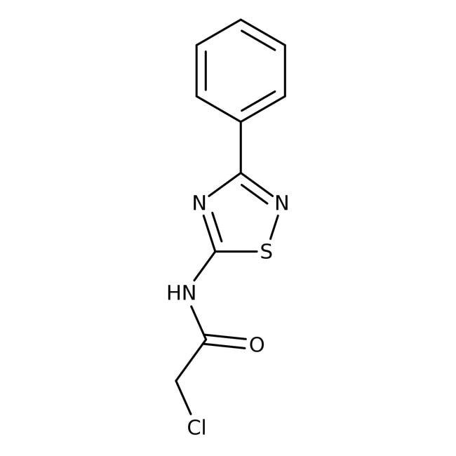 Alfa Aesar™2-Chloro-N-(3-phenyl-1,2,4-thiadiazol-5-yl)acetamide, 96% 5g Alfa Aesar™2-Chloro-N-(3-phenyl-1,2,4-thiadiazol-5-yl)acetamide, 96%
