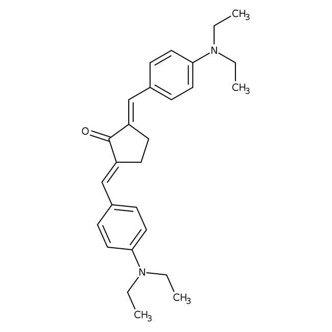 (2E,5E)-2,5-Bis[(4-(diethylamino)phenyl)methylene]cyclopentanone, 95%, ACROS Organics
