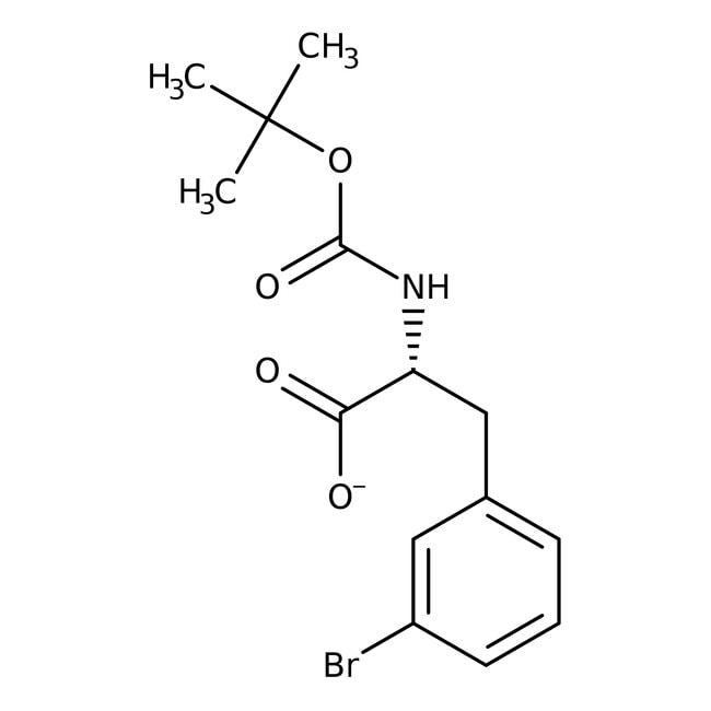 Alfa Aesar™N-Boc-3-bromo-D-phenylalanine, 98% 5g Alfa Aesar™N-Boc-3-bromo-D-phenylalanine, 98%