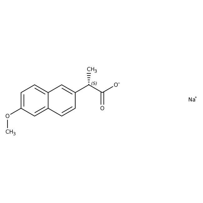 Naproxen sodium, 98%, ACROS Organics™ 25g Naproxen sodium, 98%, ACROS Organics™