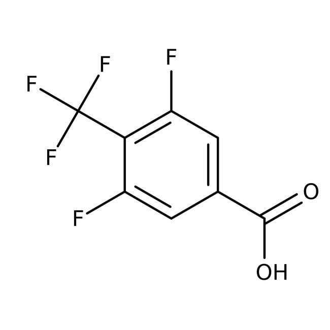 Alfa Aesar™3,5-Difluoro-4-(trifluoromethyl)benzoic acid, 98% 1g Alfa Aesar™3,5-Difluoro-4-(trifluoromethyl)benzoic acid, 98%