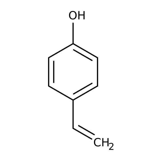 4-Vinylphenol, 95%, 10% solution in propylene glycol, ACROS Organics™ 25mL; Glass bottle 4-Vinylphenol, 95%, 10% solution in propylene glycol, ACROS Organics™