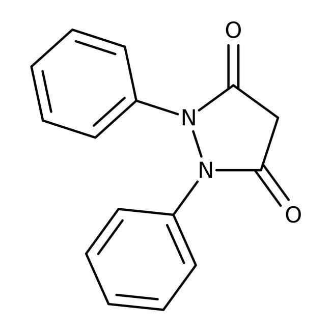 1,2-Diphenyl-3,5-pyrazolidinedione, 98%, ACROS Organics™ 1g; Glass bottle 1,2-Diphenyl-3,5-pyrazolidinedione, 98%, ACROS Organics™