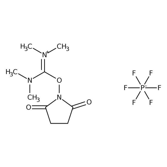N,N,N',N'-Tetramethyl-O-(N-succinimidyl)uronium hexafluorophosphate, 98%, ACROS Organics™ 25g N,N,N',N'-Tetramethyl-O-(N-succinimidyl)uronium hexafluorophosphate, 98%, ACROS Organics™