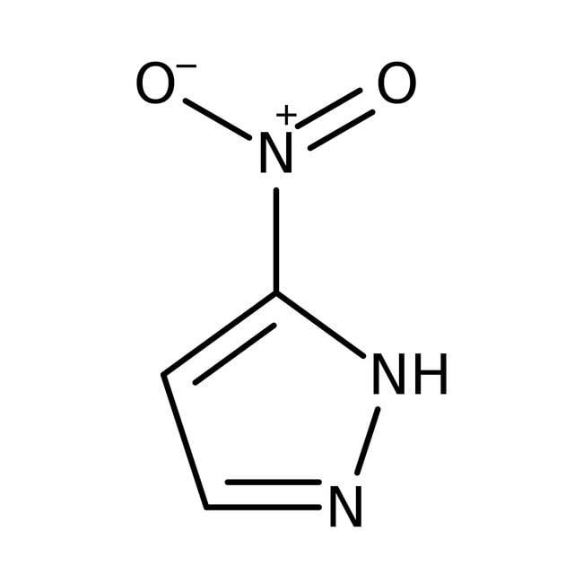 3-Nitro-1H-pyrazole, 97%, Acros Organics 25g, Glass Bottle 3-Nitro-1H-pyrazole, 97%, Acros Organics