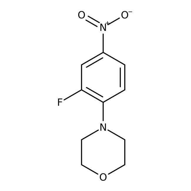 Alfa Aesar™4-(2-Fluoro-4-nitrophenyl)morpholine, 98%: Chemicals Products