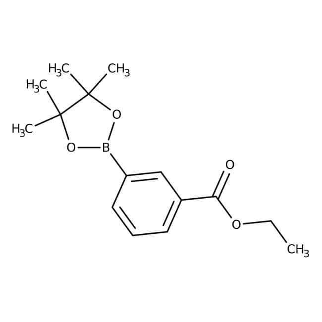 3-(Ethoxycarbonyl)phenylboronic acid pinacol ester, 97%, ACROS Organics™ 1g 3-(Ethoxycarbonyl)phenylboronic acid pinacol ester, 97%, ACROS Organics™