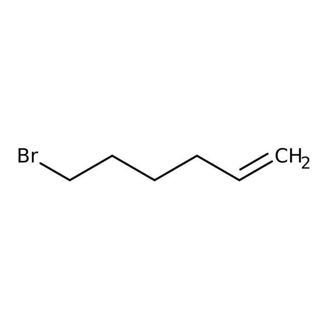 6-Bromo-1-hexene, 97%, ACROS Organics™ 5g; Glass bottle 6-Bromo-1-hexene, 97%, ACROS Organics™