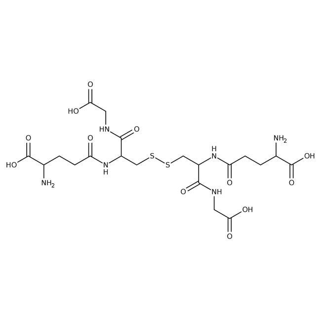 L(-)-Glutathione, oxidized hydrate, 95%, Acros Organics 1g; Glass bottle L(-)-Glutathione, oxidized hydrate, 95%, Acros Organics