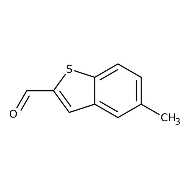 5-Methyl-1-benzothiophene-2-carbaldehyde, 97%, Maybridge™ Amber Glass Bottle; 250mg 5-Methyl-1-benzothiophene-2-carbaldehyde, 97%, Maybridge™