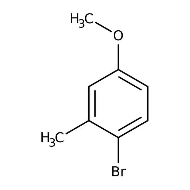 2-Bromo-5-methoxytoluene, 97%, ACROS Organics™ 5g; Glass bottle 2-Bromo-5-methoxytoluene, 97%, ACROS Organics™