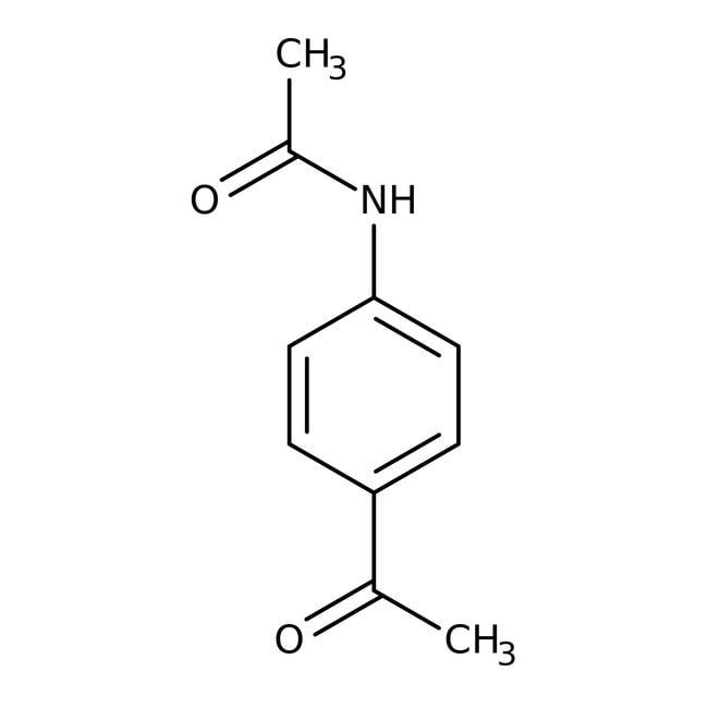 4-acétamidoacétophénone, 98%, Acros Organics 25g; flacon en verre 4-acétamidoacétophénone, 98%, Acros Organics