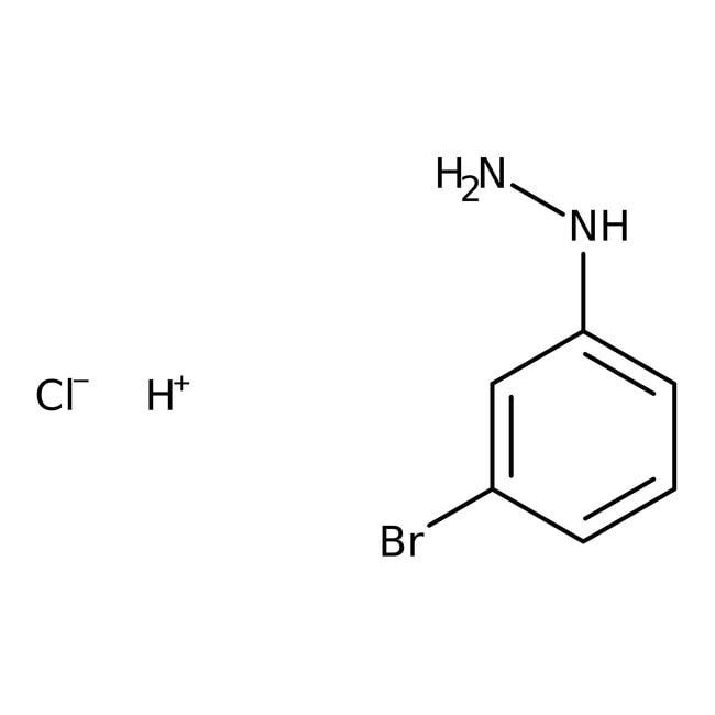 3-Bromophenylhydrazine hydrochloride, 98%, ACROS Organics™ 5g; Glass bottle 3-Bromophenylhydrazine hydrochloride, 98%, ACROS Organics™