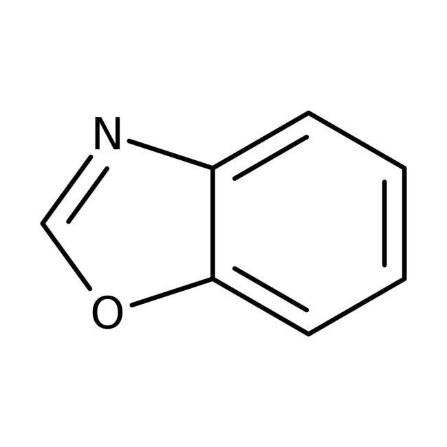 Benzoxazole, 97+%, Acros Organics 25g; Glass bottle Benzoxazole, 97+%, Acros Organics