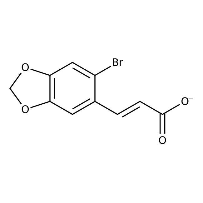 Alfa Aesar™Ácido 2-bromo-4,5-metilendioxicinámico, 97% 5g Alfa Aesar™Ácido 2-bromo-4,5-metilendioxicinámico, 97%