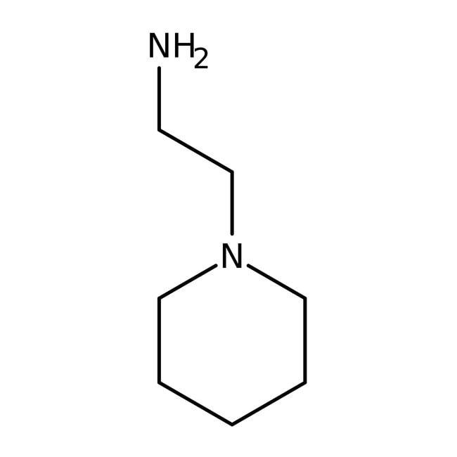 N-(2-Aminoethyl)piperidine, 98%, ACROS Organics™