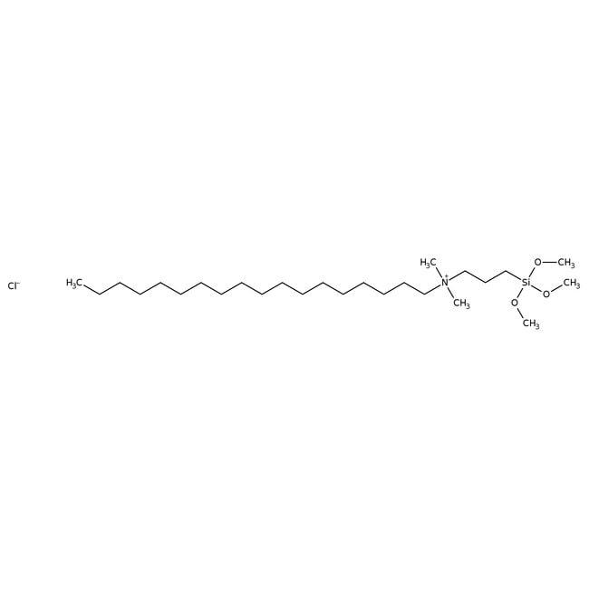 Dimethyloctadecyl[3-(trimethoxysilyl)propyl]ammonium chloride, 60% in methanol, ACROS Organics™ 100mL; Glass bottle Organics Dimethylmorph to Dimethylphenylb