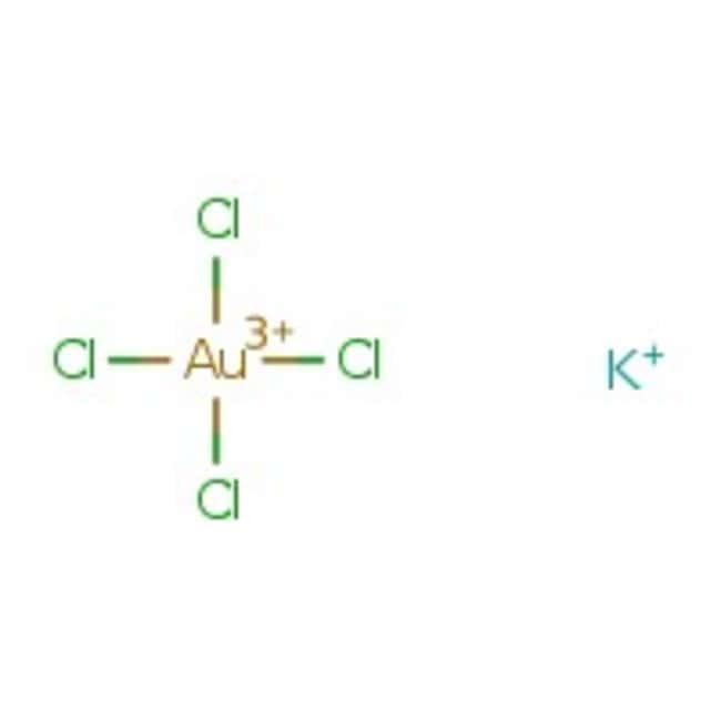 Potassium tetrachloroaurate(III) hydrate, 97%, Acros Organics