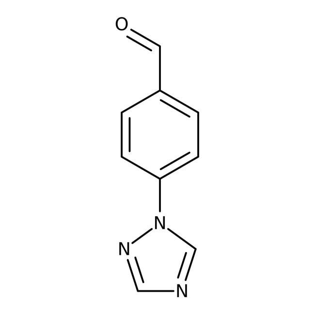 4-(1H-1,2,4-Triazol-1-yl)benzaldehyde, 95+%, Maybridge Amber Glass Bottle; 5g 4-(1H-1,2,4-Triazol-1-yl)benzaldehyde, 95+%, Maybridge