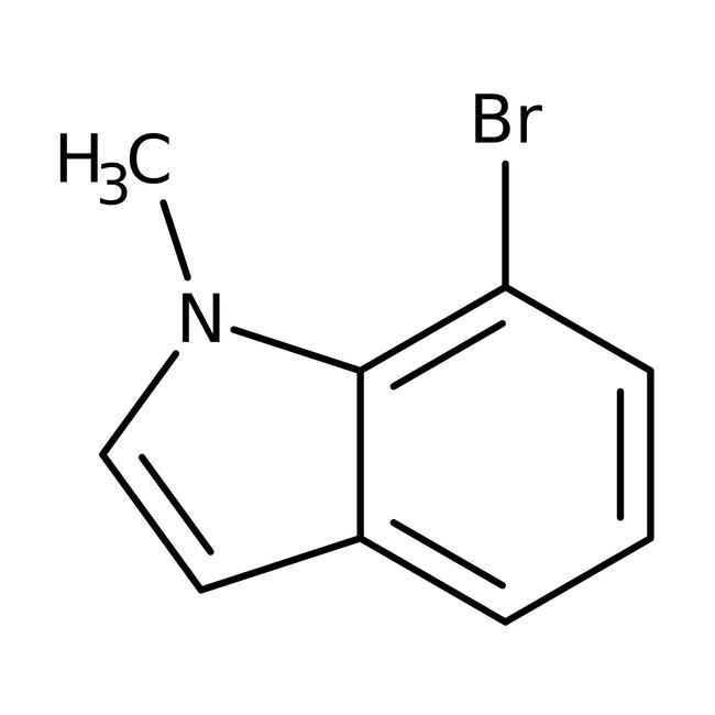 7-Bromo-1-methyl-1H-indole, 97%, Maybridge™ Amber Glass Bottle; 1g 7-Bromo-1-methyl-1H-indole, 97%, Maybridge™