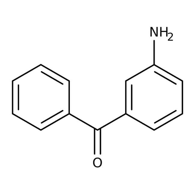 3-Aminobenzophenone, 98%, Acros Organics 5g; Glass bottle 3-Aminobenzophenone, 98%, Acros Organics