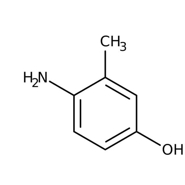 4-Amino-m-cresol, 99+%, ACROS Organics™ 250g; Glass bottle 4-Amino-m-cresol, 99+%, ACROS Organics™