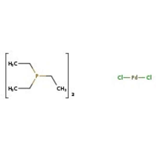 Bis(triethylphosphine)palladium(II) chloride, ACROS Organics™ 1g; Glass bottle Bis(triethylphosphine)palladium(II) chloride, ACROS Organics™
