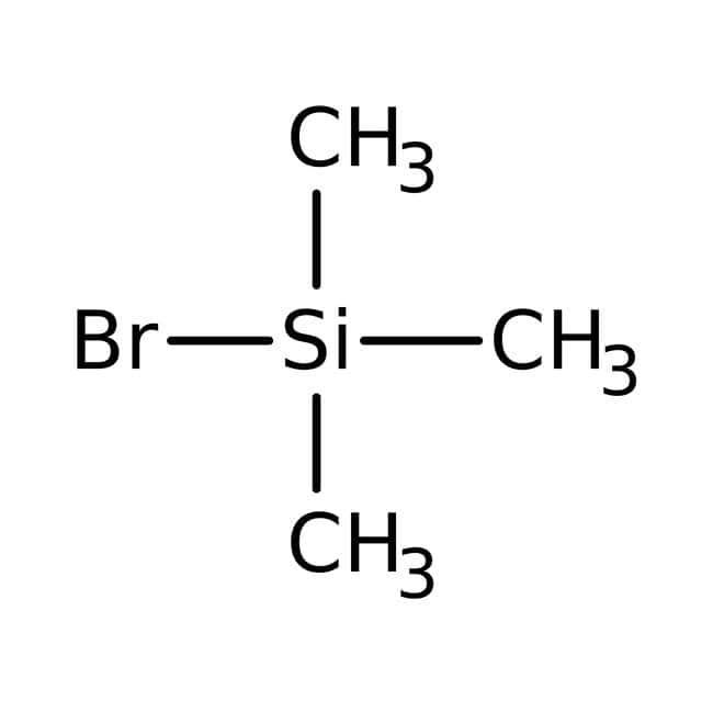 Bromotrimethylsilane, 98%, ACROS Organics™ 100g; Glass bottle Bromotrimethylsilane, 98%, ACROS Organics™