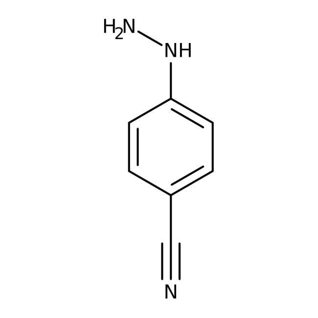 4-Cyanophenylhydrazine hydrochloride, 97+%, ACROS Organics™ 100g, Glass bottle 4-Cyanophenylhydrazine hydrochloride, 97+%, ACROS Organics™