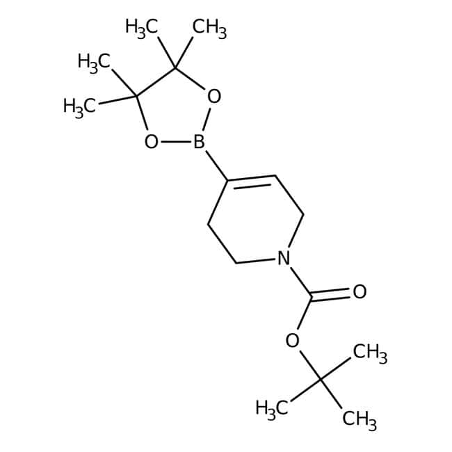 tert-Butyl 4-(4,4,5,5-tetramethyl-1,3,2-dioxaborolan-2-yl)-1,2,3,6-tetrahydropyridine-1-carboxylate, 97%, Maybridge 10g tert-Butyl 4-(4,4,5,5-tetramethyl-1,3,2-dioxaborolan-2-yl)-1,2,3,6-tetrahydropyridine-1-carboxylate, 97%, Maybridge