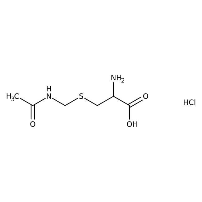 Alfa Aesar™S-Acetamidomethyl-L-cysteine hydrochloride, 98% 1g Alfa Aesar™S-Acetamidomethyl-L-cysteine hydrochloride, 98%
