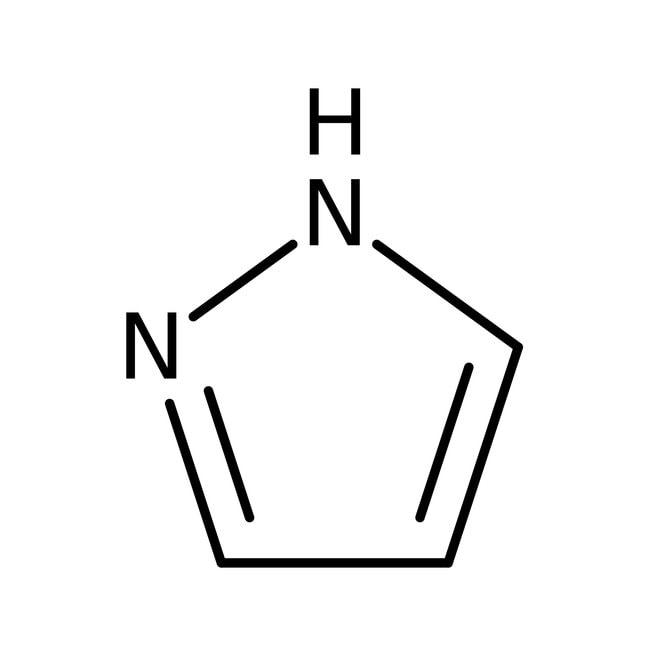 Pyrazole, 98%, pure, ACROS Organics™ 100g; Glass bottle Pyrazole, 98%, pure, ACROS Organics™