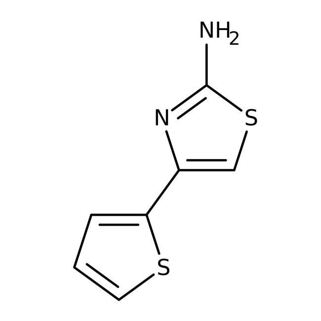 Alfa Aesar™2-Amino-4-(2-thienyl)thiazole, 97%: Thiazoles Azoles