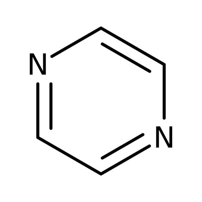 Pyrazine, 99+%, ACROS Organics™ 100g; Glass bottle Pyrazine, 99+%, ACROS Organics™