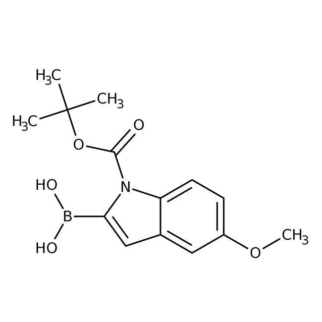 Alfa Aesar™1-Boc-5-methoxyindole-2-boronic acid, 95%: Chemicals Products