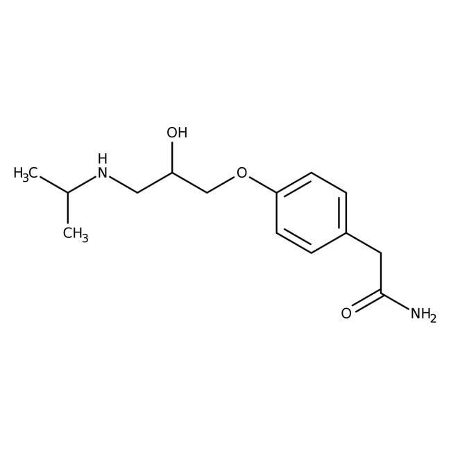 Aténolol, 98%, ACROS Organics 25g, flacon de verre Aténolol, 98%, ACROS Organics